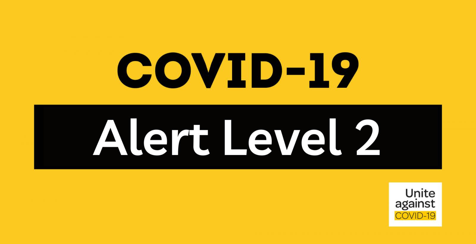 Covid-19 - Level 2 banner image